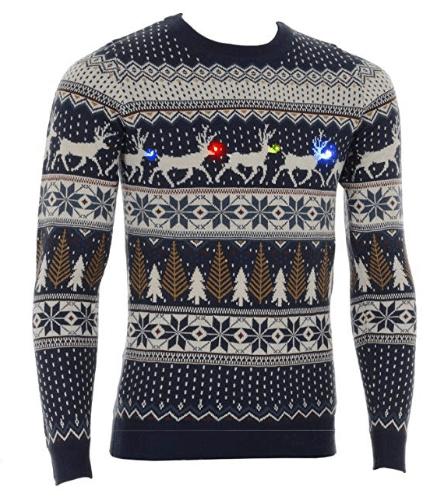 Flashing Lights Christmas Jumper
