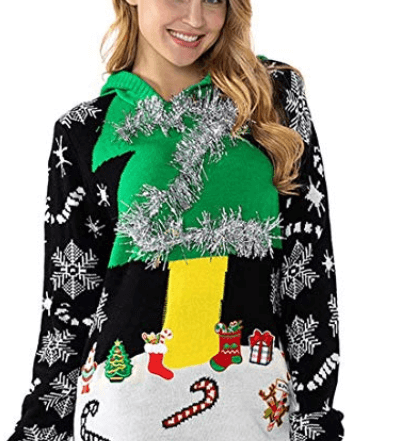 Women's Ugly Christmas Hooded Jumper