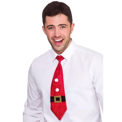 Glittrig Julslips Röd
