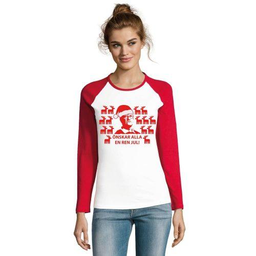 Jultröja Tegnell Håll Avstånd   Långärmad T-shirt   Dam