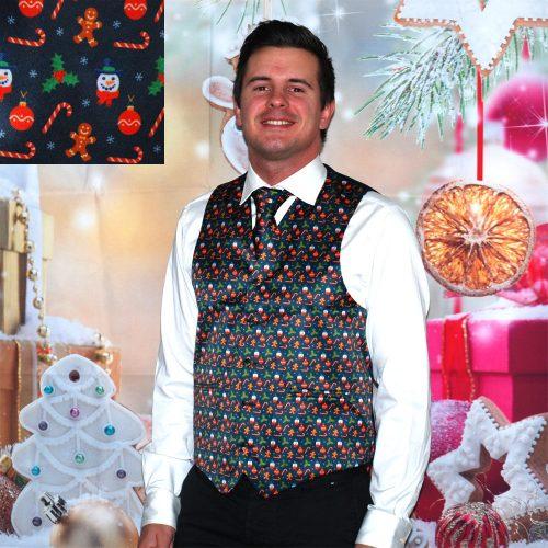 Julväst med slips