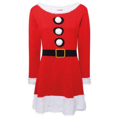 Stickad Julklänning | Dam