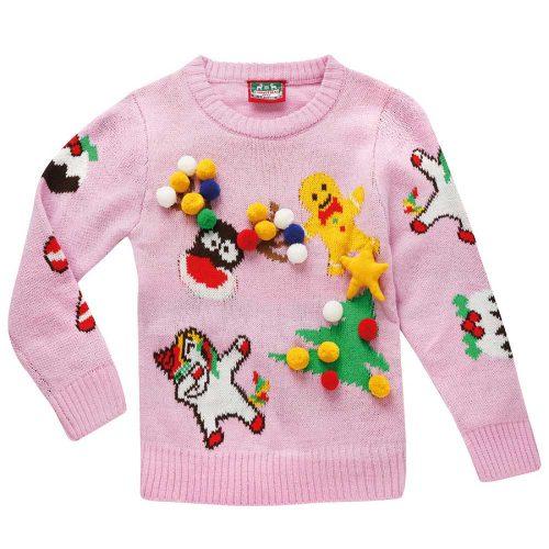 Stickad Jultröja 3D | Barn