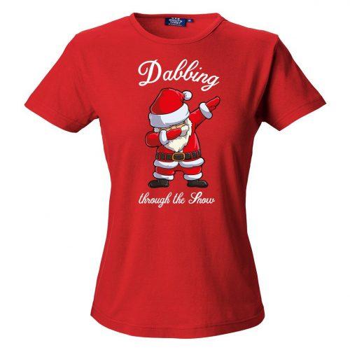 T-Shirt Jultomte Dab   Dam